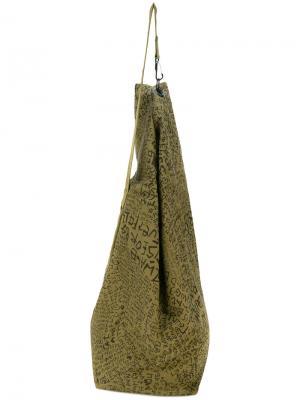 Большая сумка на плечо Oamc. Цвет: зелёный
