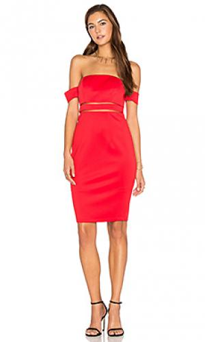 Платье с открытыми плечами keep control Lumier. Цвет: красный