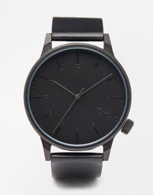 Komono Черные часы Winston. Цвет: черный
