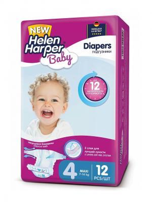 Подгузники Maxi 7-14 кг. (12 шт.)/15 HELEN HARPER BABY. Цвет: фиолетовый
