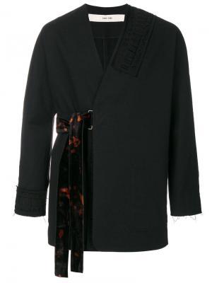 Пиджак с запахом Damir Doma. Цвет: чёрный