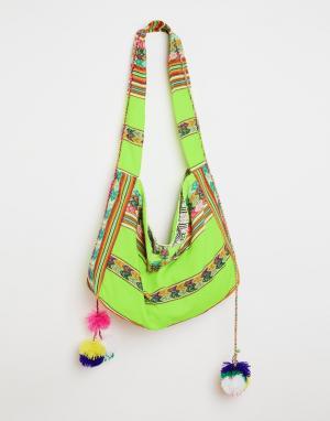 Pitusa Пляжная сумка Inca. Цвет: лимонный