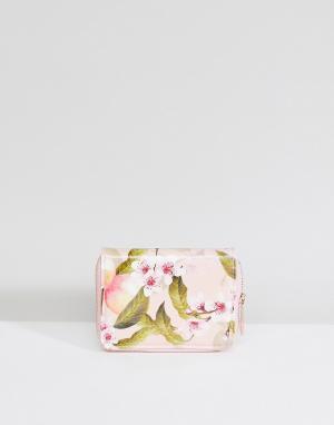 Ted Baker Маленький кошелек на молнии с цветочным принтом. Цвет: мульти