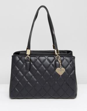 Marc B Черная стеганая сумка на плечо. Цвет: черный