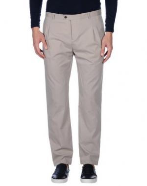 Повседневные брюки DANIELE ALESSANDRINI HOMME. Цвет: бежевый