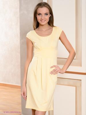 Платье V&V. Цвет: желтый