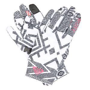 Перчатки женские  Liner Gloves Windy Road True Black Roxy. Цвет: белый,черный