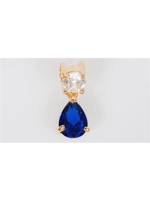 Кулон Lotus Jewelry. Цвет: синий