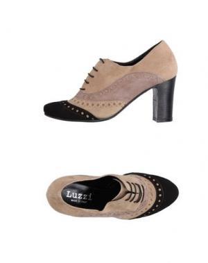 Обувь на шнурках LUZZI. Цвет: голубиный серый