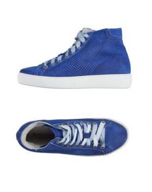 Высокие кеды и кроссовки DANIELA FARGION. Цвет: ярко-синий
