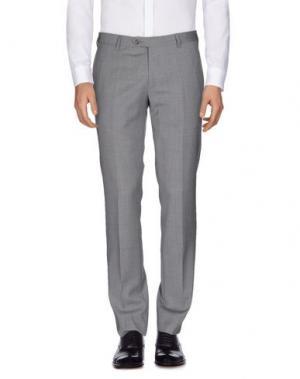 Повседневные брюки SARTORIA LATORRE. Цвет: серый