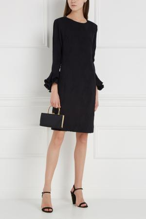 Шелковое платье (1990-е) Louis Feraud Vintage. Цвет: черный