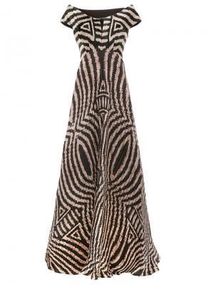 Платье с узором Afroditi Hera. Цвет: многоцветный