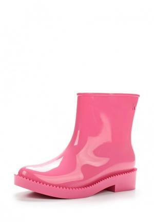Резиновые полусапоги Melissa. Цвет: розовый