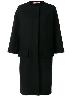 Пальто с укороченными рукавами Marni. Цвет: чёрный