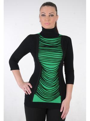 Туника MONO collection. Цвет: черный, зеленый