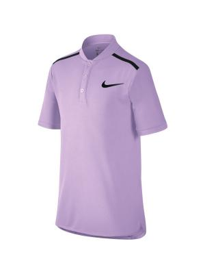 Футболка-поло B NK ADV POLO SS Nike. Цвет: фиолетовый