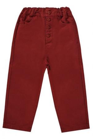 Хлопковые брюки Howlite Caramel Baby&Child. Цвет: красный