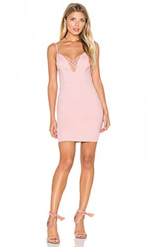 Платье try your luck RISE OF DAWN. Цвет: розовый