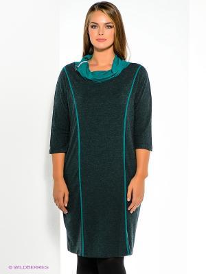 Платье МадаМ Т. Цвет: лазурный, темно-зеленый