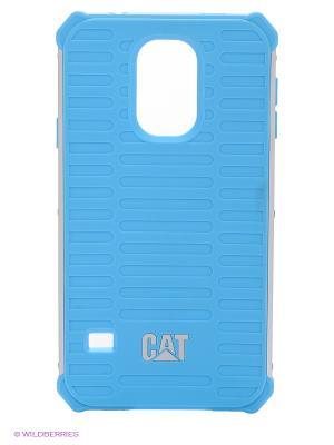 Противоударная защита для Samsung S5 Caterpillar. Цвет: голубой