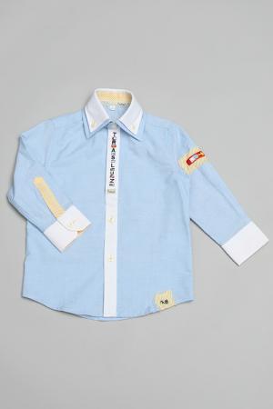 Рубашка Trasluz. Цвет: голубой