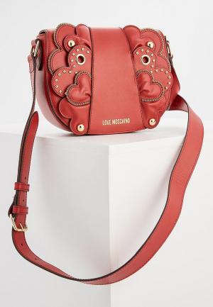 Сумка Love Moschino. Цвет: красный