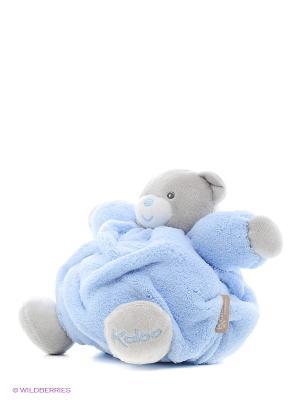 Мишка маленький голубой музыкальный, коллекция Плюм Kaloo. Цвет: голубой