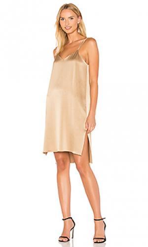 Платье-комбинация Halston Heritage. Цвет: металлический золотой