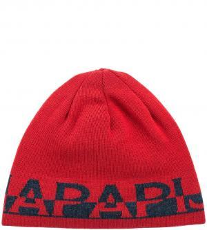 Шапка Napapijri. Цвет: красный