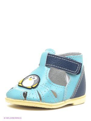 Сандалии Детский скороход. Цвет: голубой, синий