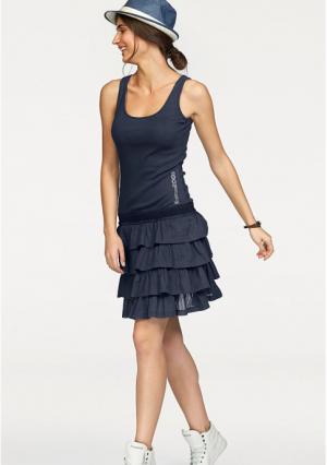 Платье-мини Kangaroos. Цвет: белый, темно-синий