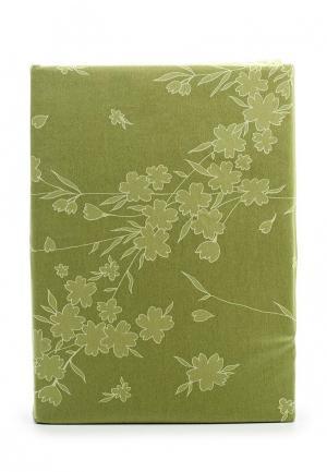 Комплект постельного белья 1,5-спальный Хлопковый Край. Цвет: зеленый