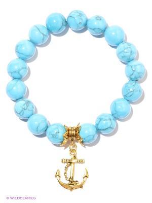 Браслет Feltimo. Цвет: голубой, золотистый