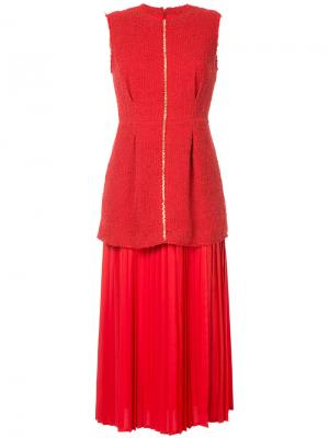 Платье Rona Mother Of Pearl. Цвет: красный