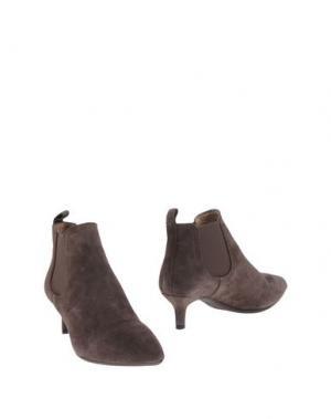 Полусапоги и высокие ботинки UNISA. Цвет: серый