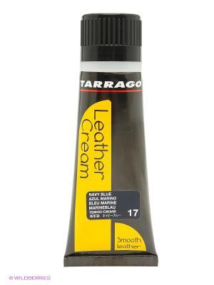 Крем тюбик с губкой Leather cream, 75мл. (navy bleu) Tarrago. Цвет: темно-синий