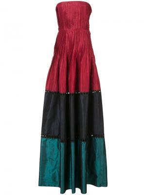 Вечернее платье Delhi без бретелек Sachin & Babi. Цвет: красный