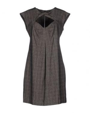 Короткое платье NELL&ME. Цвет: свинцово-серый