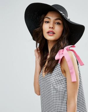 Boardwalk Соломенная шляпа с бахромой. Цвет: черный