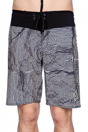 Пляжные мужские шорты  Lawless Boardshort Black Globe. Цвет: черный,белый