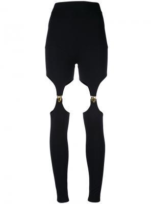 Леггинсы Suspender Murmur. Цвет: чёрный