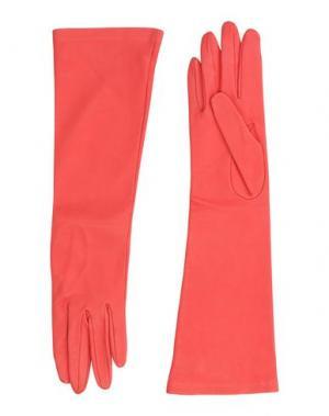 Перчатки DSQUARED2. Цвет: коралловый