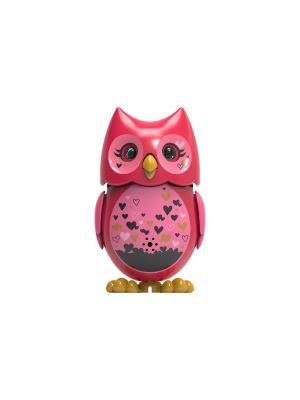 Сова с кольцом, красная розовыми крыльями Silverlit. Цвет: красный, розовый
