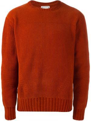 Джемпер с круглым вырезом Wooyoungmi. Цвет: жёлтый и оранжевый