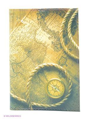 Обложка для автодокументов Карта путешественника Mitya Veselkov. Цвет: желтый, зеленый