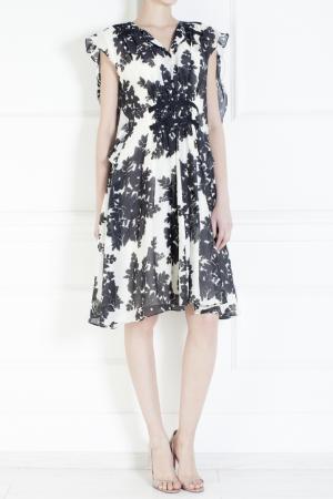 Платье из шелка и хлопка Thakoon. Цвет: черный, слоновая кость