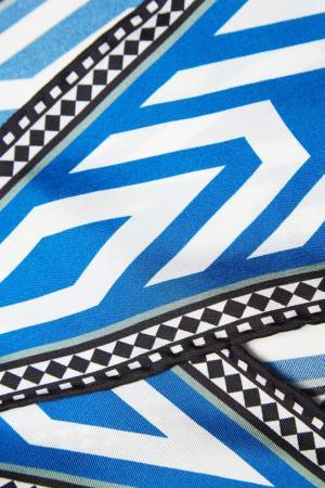 Платок из шелка с принтом Haider Ackermann. Цвет: белый, синий