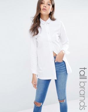 Waven Tall Джинсовая рубашка. Цвет: белый