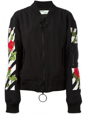 Куртка бомбер с логотипом Off-White. Цвет: чёрный